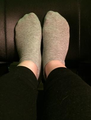 My Savvy Grip Socks from Tavi Noir. Love them!